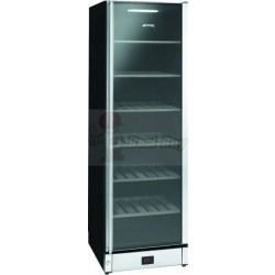 Smeg SCV115  Wine Cooler in Gloss Black and St/steel with Glass Door