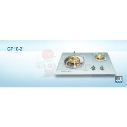 German Pool 德國寶 GP10-2-TG / GP10-2-LG 嵌入/座檯兩用 - 超級火鳳凰系列 (大小雙爐頭) 氣體煮食爐