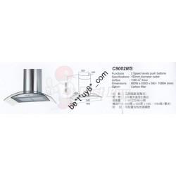 Cristal 尼斯 C9002MS 煙導式 1100立方米 排風量 抽油煙機
