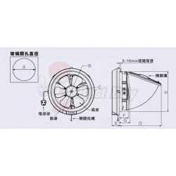 Mitsubishi 三菱 V-15SL3T/V-20SL3T 抽氣扇